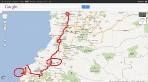mapa del viaje final, vacaciones