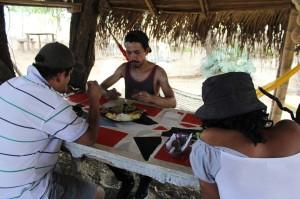 almorzando en el desierto, san agustin