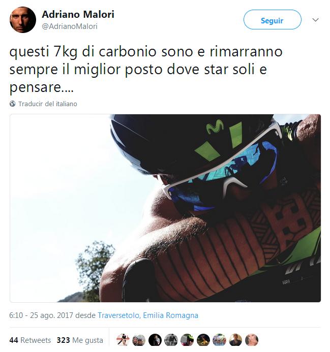 Adriano malori, la bicicleta el mejor sitio para estar solo y pensar