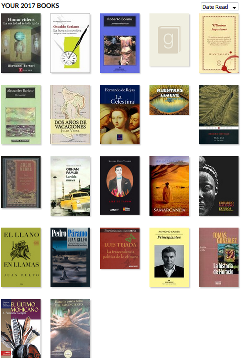 los libros que me leí en el 2017